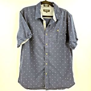 Eighty Eight Platinum Casual Button Up Navy Blue